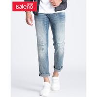12点开始:Baleno 班尼路 88811008  男士水洗牛仔裤