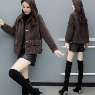 海宁皮草羊剪绒外套女短款2020冬季新款加厚皮毛一体羊羔毛大衣潮
