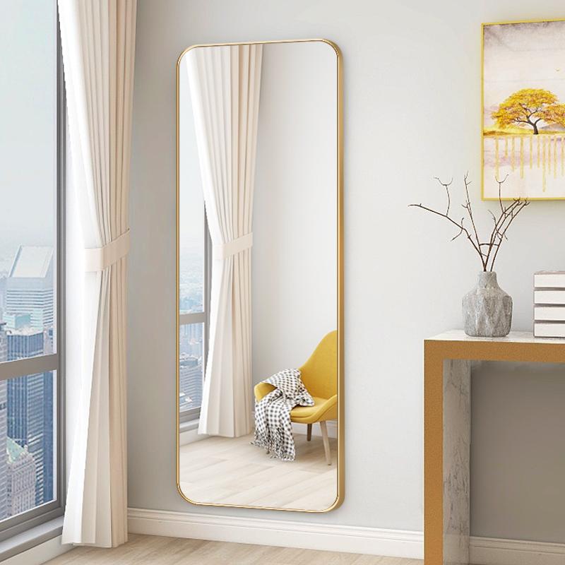 娜兰斯 铝合金穿衣镜全身镜家用挂墙试衣镜壁挂镜子贴墙大镜子全身落地镜