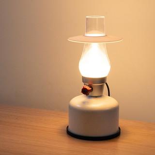 MOBI GARDEN 牧高笛 MOBIGARDEN)复古营灯 户外露营LED照明灯便携营地灯可充电帐篷灯 NX20673001 象牙白