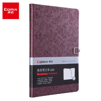 Comix 齐心 C5836 18K 122张 磁扣笔记本 花锦系列 酱紫