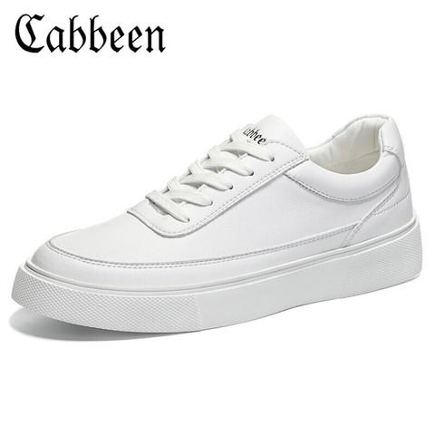 Cabbeen 卡宾 男鞋夏季透气百搭小白鞋男士休闲板鞋运动滑板鞋男3203205587 白色 40