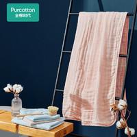 Purcotton 全棉时代 成人婴儿4层纯棉浴巾 90*160cm 花蕾粉