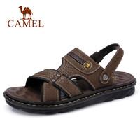 CAMEL 骆驼 A822287772  男士透气牛皮两穿凉鞋