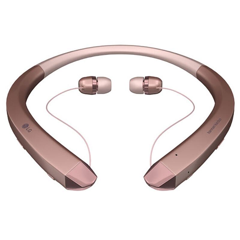 LG 乐金 HBS-910 入耳式颈挂式蓝牙耳机 玫瑰金色