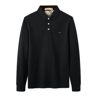 SEPTWOLVES 七匹狼 21男士长袖T恤Polo衫翻领纯色上衣