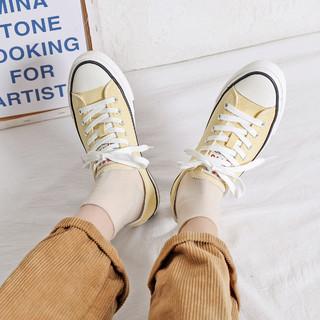 Semir 森马 21年春季新品帆布鞋板鞋休闲鞋子女小白鞋女鞋