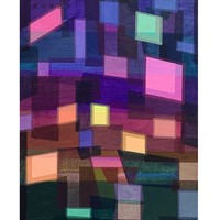 ARTMORN 墨斗鱼艺术 林子豪 《现世的光 No.8》50×40cm 装饰画手工装裱原作孤品