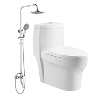 HUIDA 惠达 马桶喷射虹吸式节水联体坐便器易洁坐厕马桶HDC6162