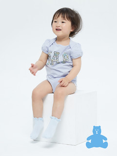 Gap 盖璞 婴儿|布莱纳系列 新生之选 徽标LOGO甜美印花短袖连体衣