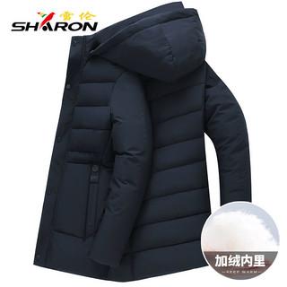 雪伦新款棉衣男中长款加绒加厚棉服中年冬季外套爸爸装棉袄XL1906