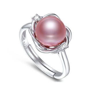 黛米 佳琦 淡水珍珠戒指 女款S925银珍珠女戒 时尚百搭