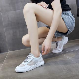 CLAW MONEY CMT6605J0201 女款网面平底小白鞋