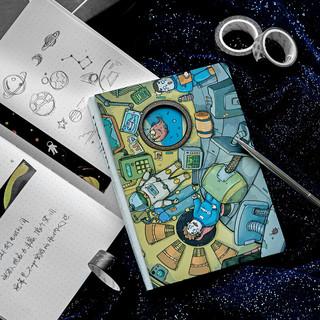 kinbor 120张B6硬面手账本/创意双封面手帐记事本/文具笔记本子 深海迷航DTB40078