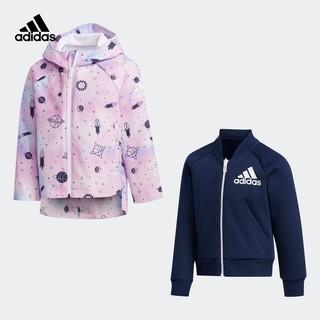阿迪达斯官网 adidas 小童装训练运动梭织夹克外套FM9706