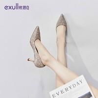exull 依思Q T0170078  女士时尚尖头高跟鞋