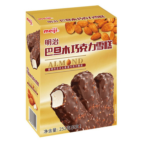 meiji 明治 巴旦木巧克力雪糕 42g*6支