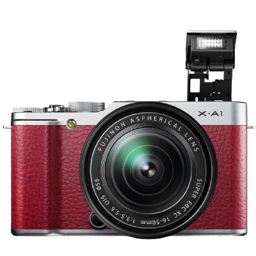 FUJIFILM 富士 X-A1 APS-C画幅 无反相机 EBC XC 红色 16-50mm F3.5 OIS 变焦镜头 单头套机