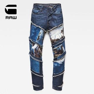 G-STAR G-STAR xJaden Smith 联名款男士潮流休闲修身牛仔裤D10836 蓝色 3132
