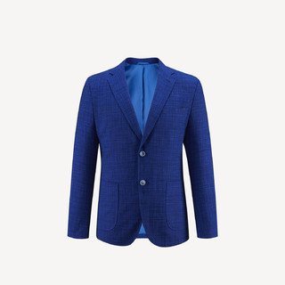 HLA 海澜之家 竹节纹时尚有型休闲西服商务修身单西外套男