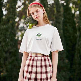 LEDIN 乐町 打底衫女可爱果蔬短袖t恤女2021春季新款女装薄上衣宽