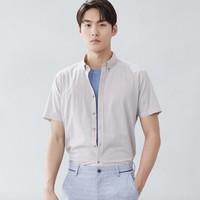 HLA 海澜之家 HNECJ2R068A 男士棉麻衬衫
