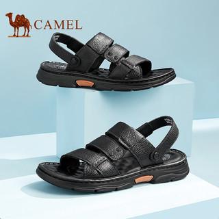CAMEL 骆驼 A122211632 男士牛皮拖鞋