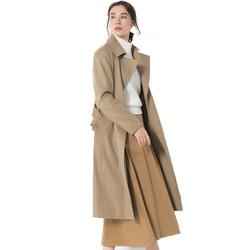 23区 春季风衣女中长款2019新款气质休闲简约收腰显瘦薄款大衣外套