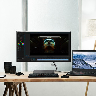 Lenovo 联想 Qreator 27 27英寸 IPS FreeSync 显示器(3840×2160、60Hz、98%DCI-P3、HDR400、Type-C 96W)