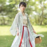 池夏 织梦:皎皎 改良 直领对襟褶裙原创汉服 S1903
