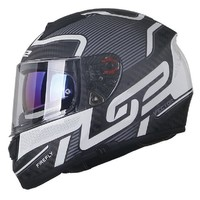 LS2 摩托车头盔 夏季双镜片 397夜光支持者