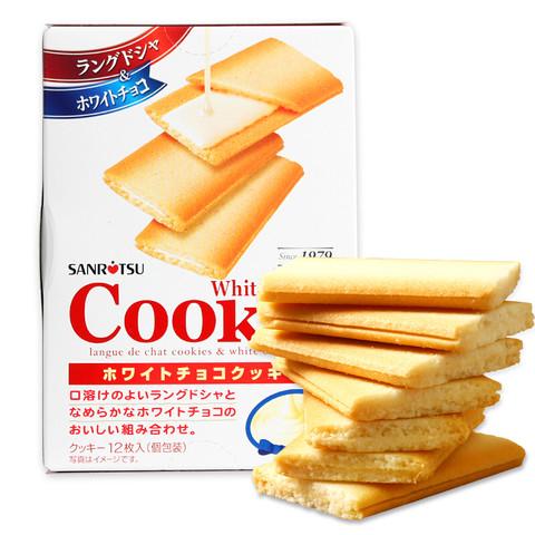 SANRITSU 三立 白巧克力夹心饼干 12枚 90g