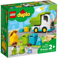 LEGO 乐高 得宝10945垃圾分类环保车 大颗粒幼儿益智拼插积木玩具礼物