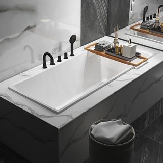 果敢 751嵌入式薄边长方形浴缸 配下水器 1m