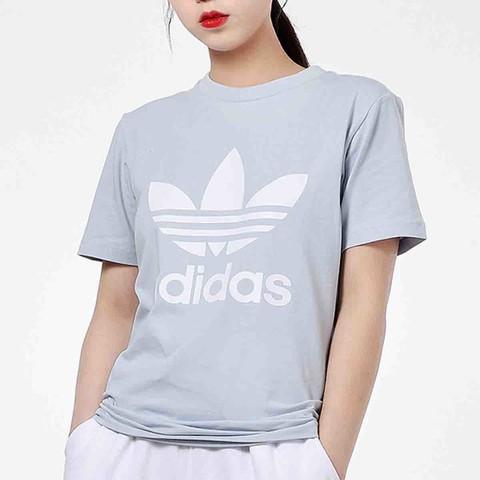 adidas 阿迪达斯 夏季新款三叶草女子短袖T恤运动服休闲圆领短袖女装