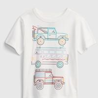 Gap 盖璞 幼儿|布莱纳系列 玩童之选 童趣印花纯棉短袖T恤