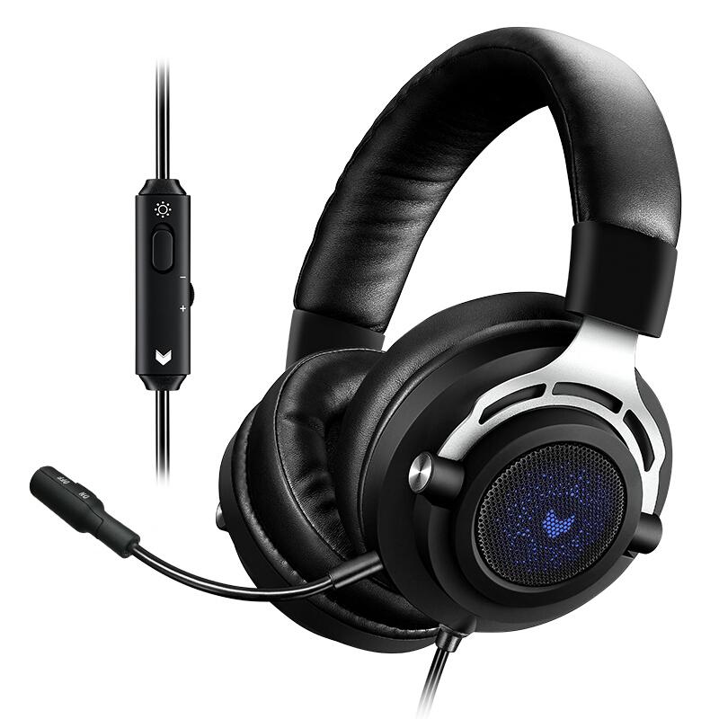 RAPOO 雷柏 VH150 耳罩式头戴式有线耳机 黑色 3.5mm