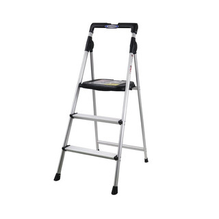 WERNER 稳耐 梯子家用铝合金梯子三步人字梯1.2米家用梯 AJ3-1