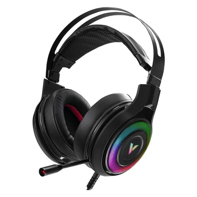 RAPOO 雷柏 VH520 耳罩式头戴式有线耳机 黑色 USB口