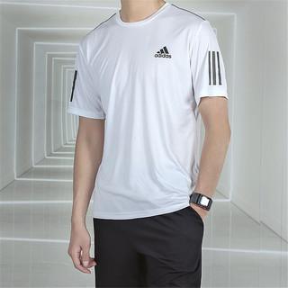 adidas 阿迪达斯 男装短袖新款时尚运动跑步健身训练透气舒适圆领T恤
