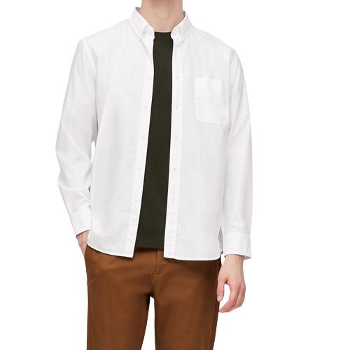 UNIQLO 优衣库 男士长袖衬衫 428967 白色 XL