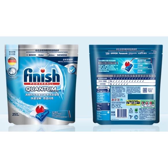 18日0点 : finish 亮碟 洗碗机专用量子极净洗碗凝珠 25块