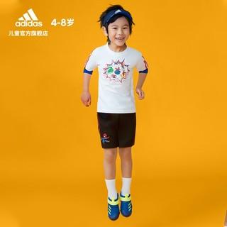 adidas 阿迪达斯 官网adidas 蜘蛛侠联名款小童装训练运动短袖T恤GM6918