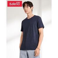 Baleno 班尼路 88802215 情侣款纯色圆领宽松短袖T恤