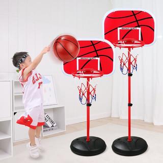 BEI JESS 贝杰斯 儿童投篮金属篮球架2米可升降投掷玩具+3球+打气筒