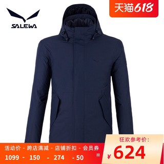 SALEWA 沙乐华 户外秋冬套羽绒男式防风运动耐磨保暖三合一旅行冲锋衣