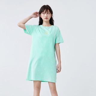 Semir 森马 夏季新款字母印花圆领套头衫少女学生潮流扎染T恤式连衣裙女