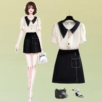 stylecloth 诗可洛 SK-AZBA5380Q0 女款娃娃衫上衣职业套装裙