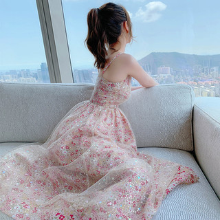法式碎花吊带连衣裙夏季2021新款气质超仙女森系甜美复古网纱裙子