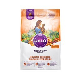 PLUS会员 : HALO 自然光环 纯鲜肉鸡肉配方成猫粮 4.54kg